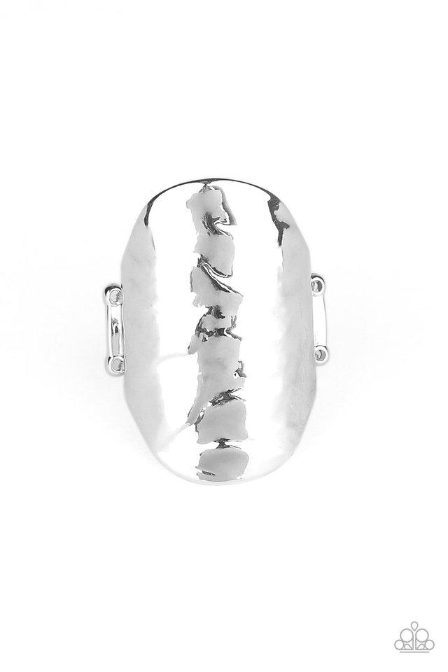 Retro Ripple - Silver - Paparazzi Ring Image