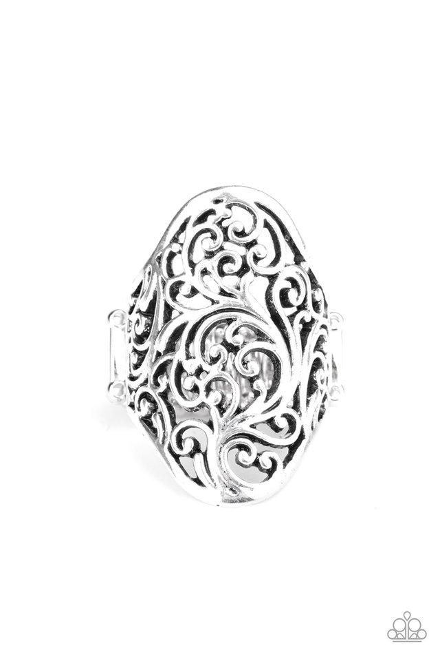 Vine Vibe - Silver - Paparazzi Ring Image