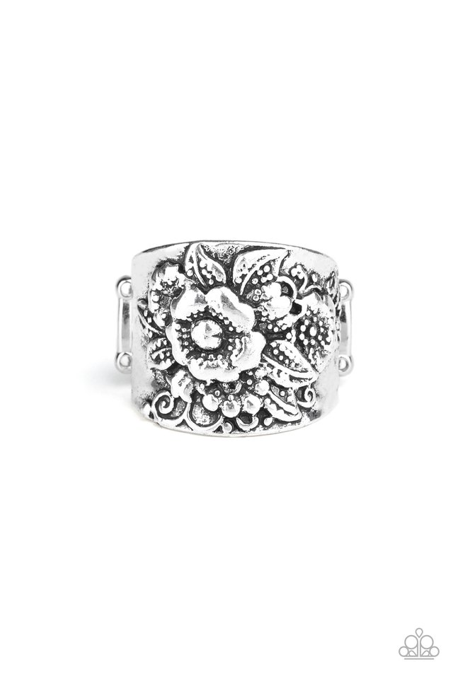 Tropical Bloom - Silver - Paparazzi Ring Image