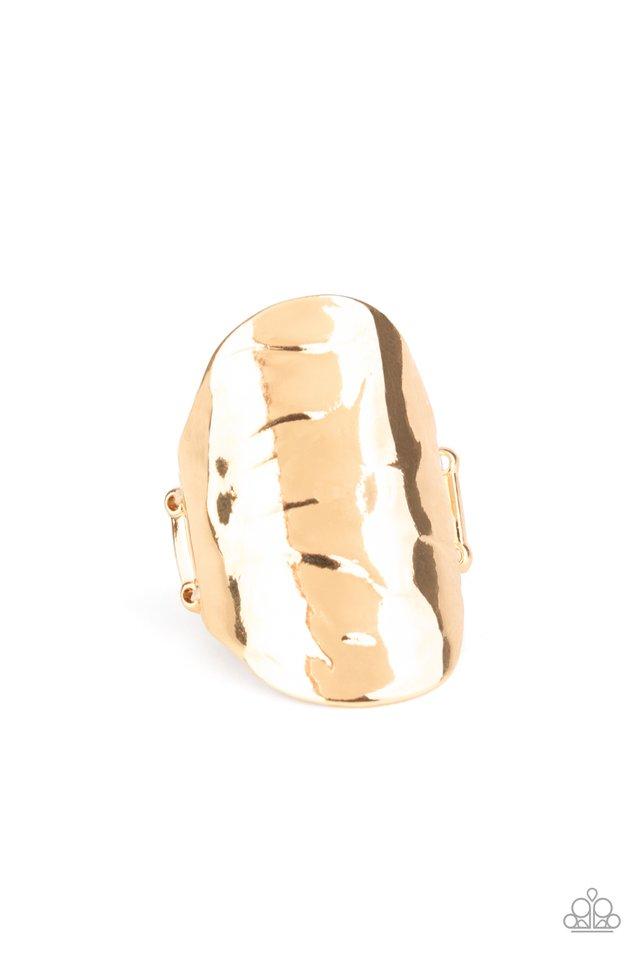 Retro Ripple - Gold - Paparazzi Ring Image