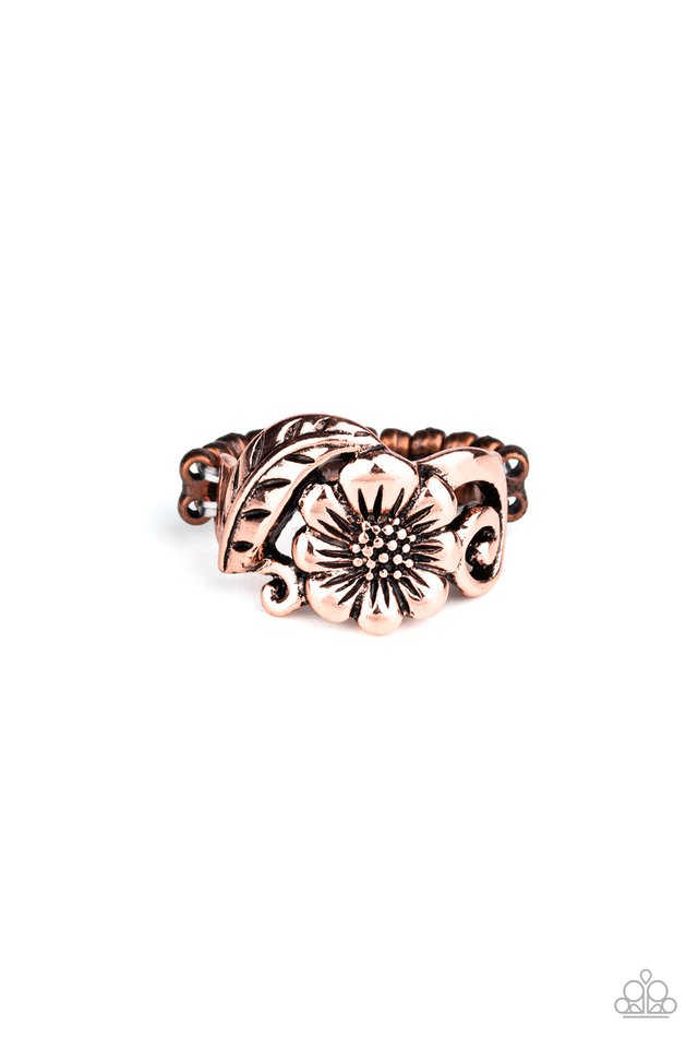 Oceanside Orchard - Copper - Paparazzi Ring Image