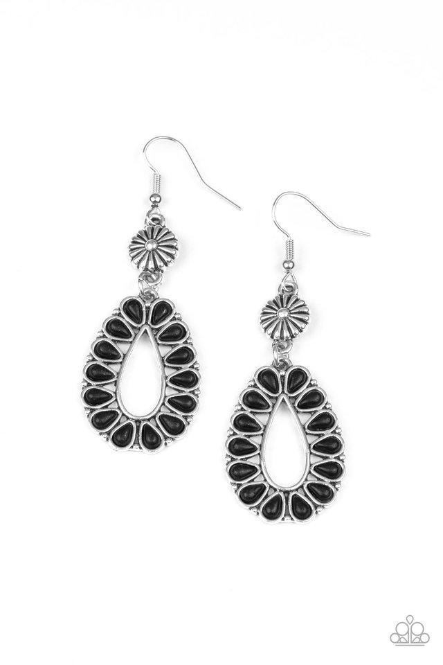 Stone Orchard - Black - Paparazzi Earring Image