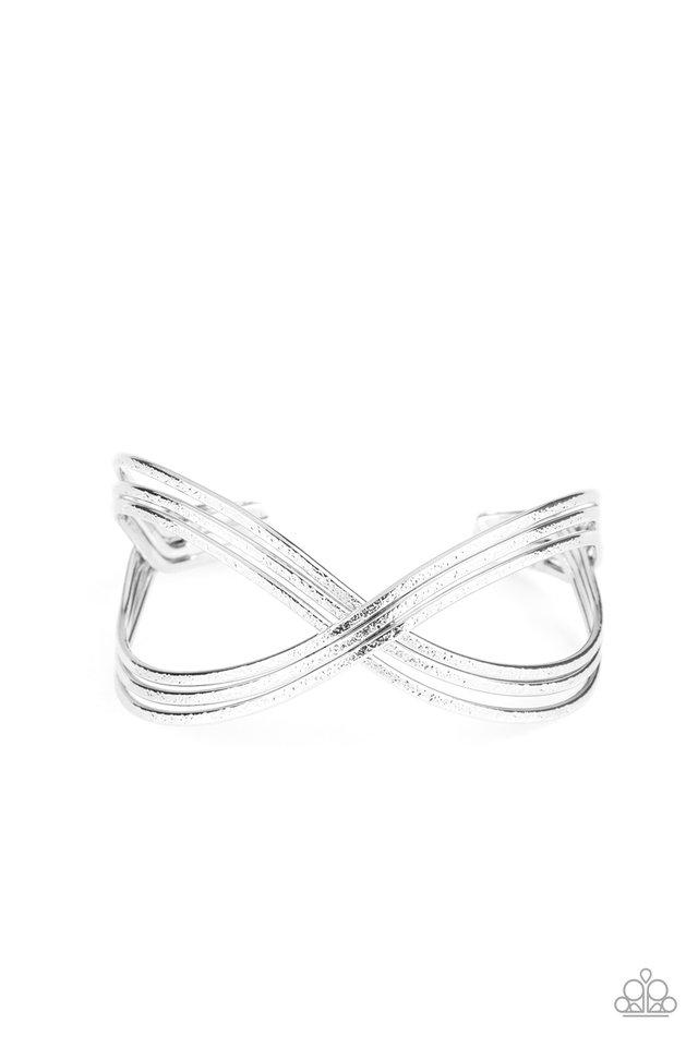 Infinitely Iridescent - Silver - Paparazzi Bracelet Image