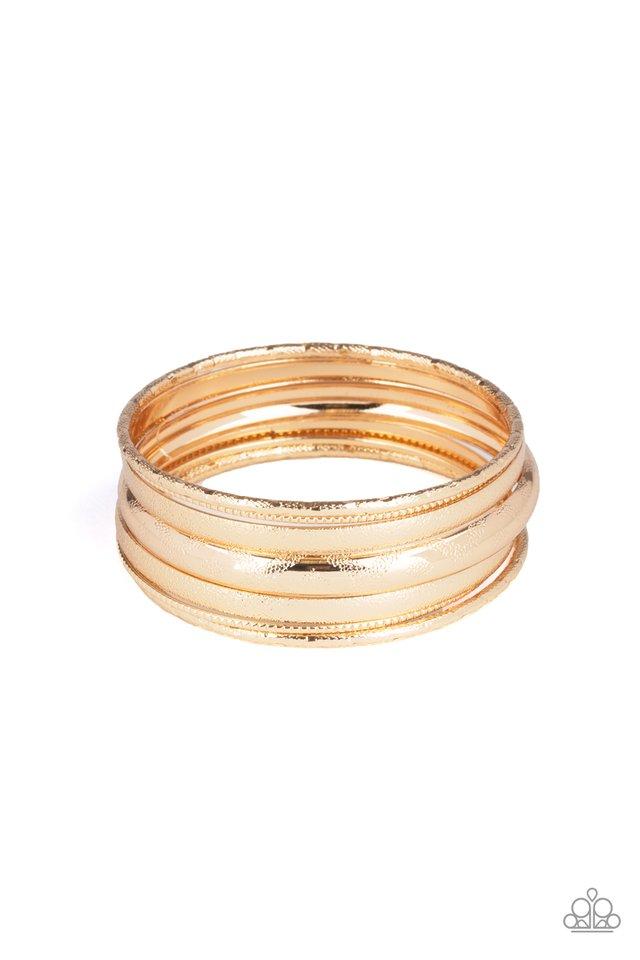 Basic Bauble - Gold - Paparazzi Bracelet Image