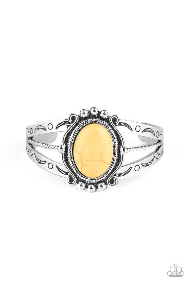 Very TERRA-torial - Yellow - Paparazzi Bracelet Image