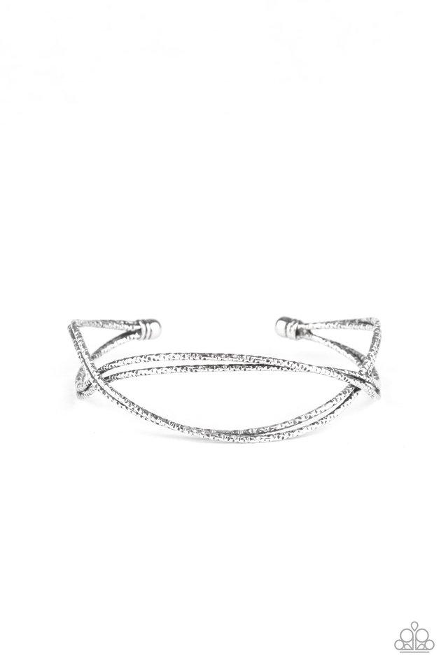 Bending Over Backwards - Silver - Paparazzi Bracelet Image