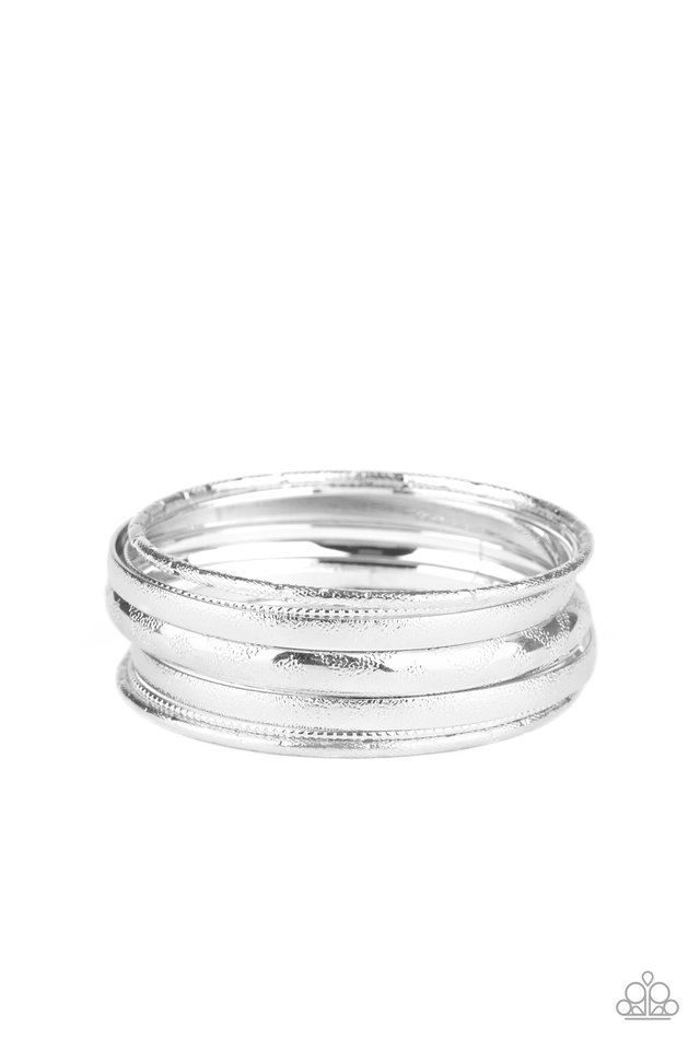 Basic Bauble - Silver - Paparazzi Bracelet Image