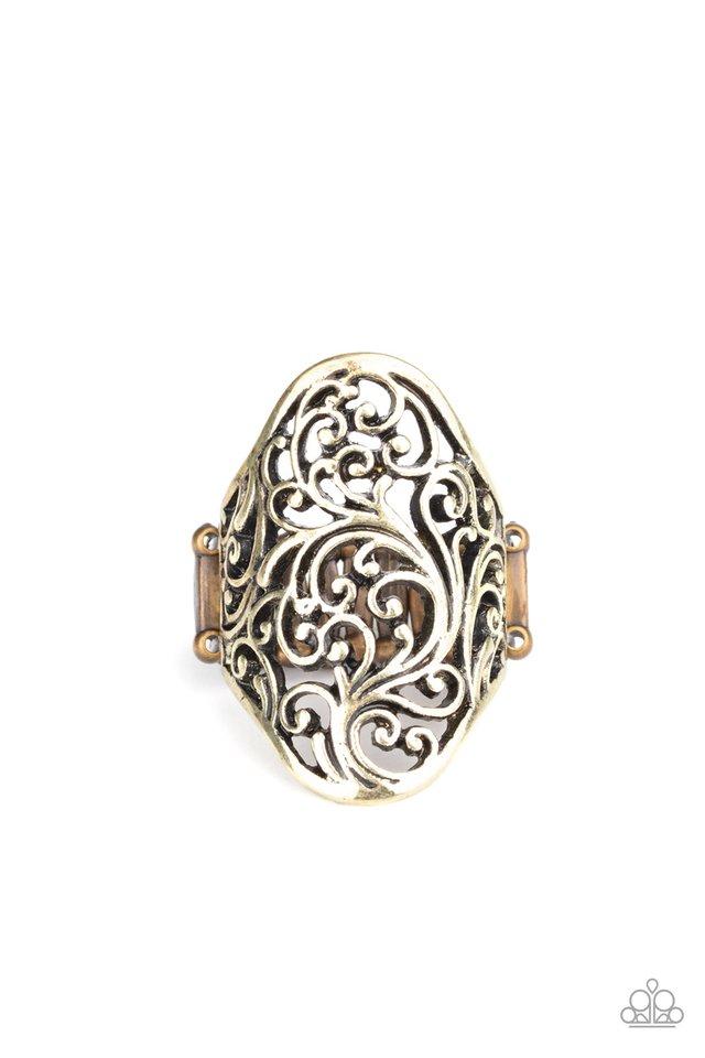 Vine Vibe - Brass - Paparazzi Ring Image