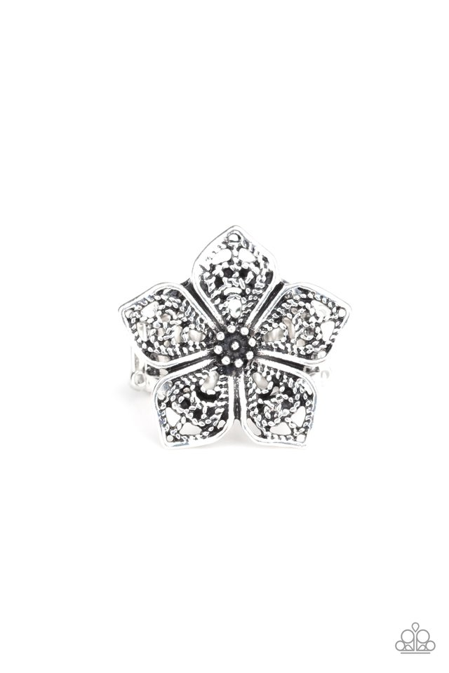 Full Bloom Fancy - Silver - Paparazzi Ring Image