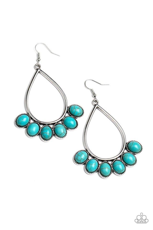 Stone Sky - Blue - Paparazzi Earring Image