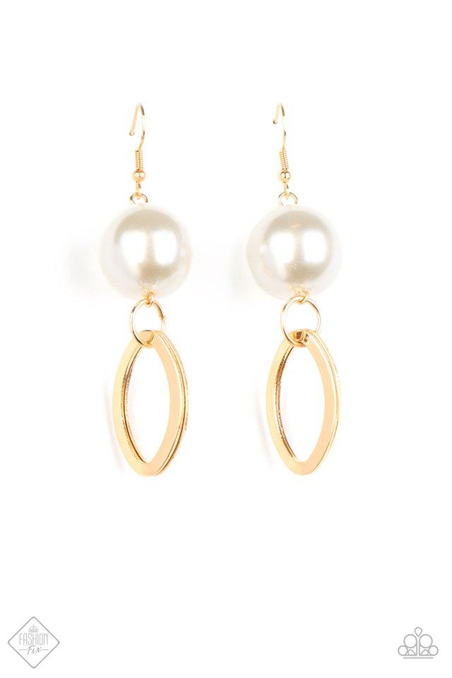Big Spender Shimmer - Gold - Paparazzi Earring Image