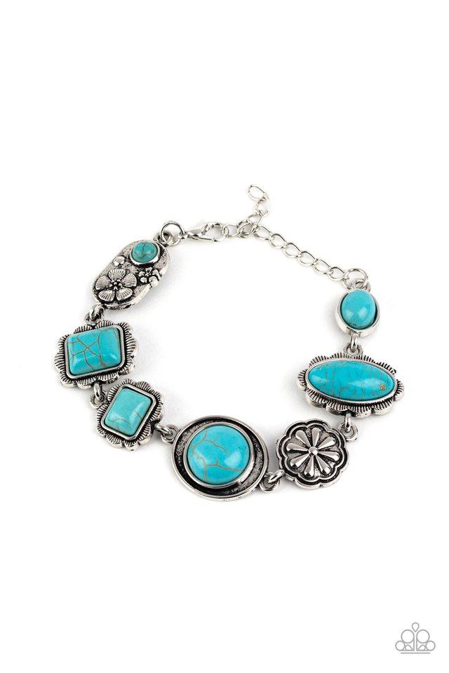 Gorgeously Groundskeeper - Blue - Paparazzi Bracelet Image