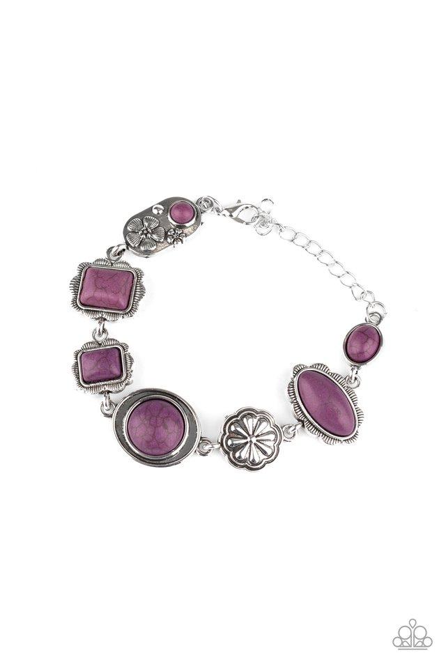 Gorgeously Groundskeeper - Purple - Paparazzi Bracelet Image