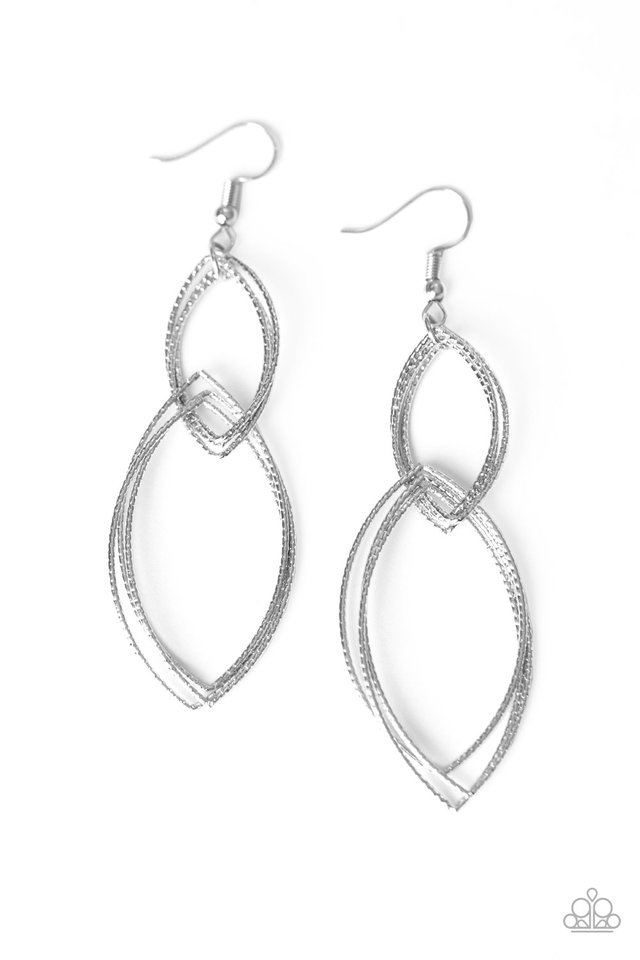 Endless Echo - Silver - Paparazzi Earring Image