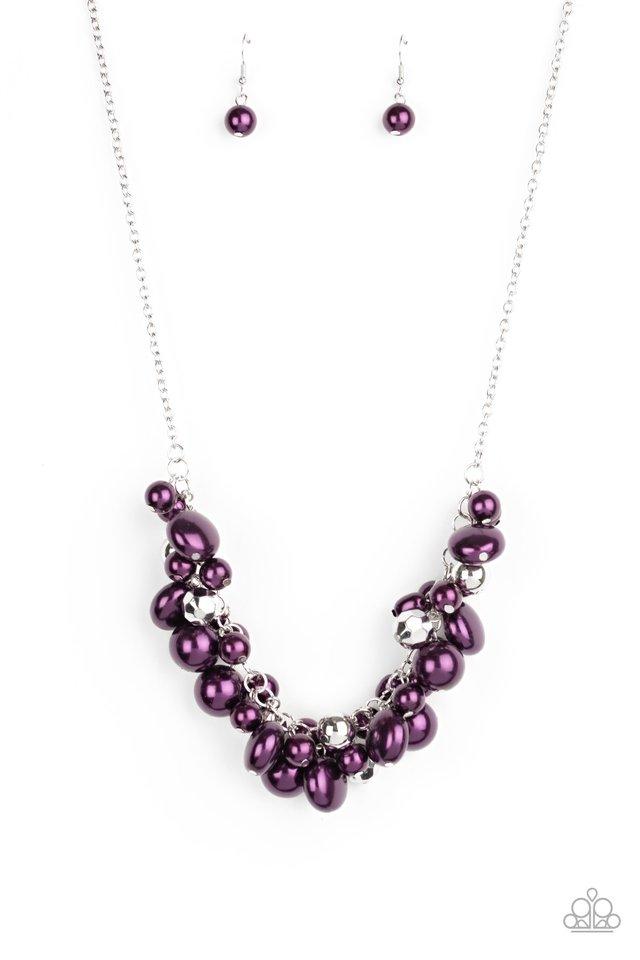 Battle of the Bombshells - Purple - Paparazzi Necklace Image