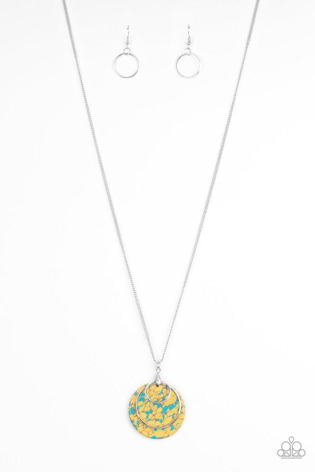 Sahara Equinox - Yellow - Paparazzi Necklace Image
