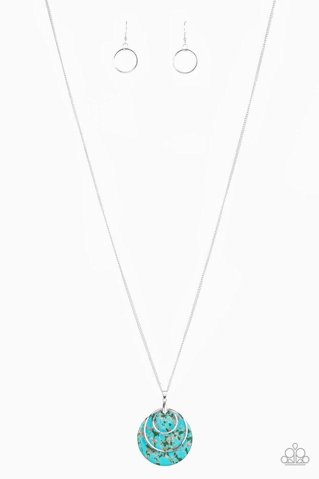 Sahara Equinox - Blue - Paparazzi Necklace Image