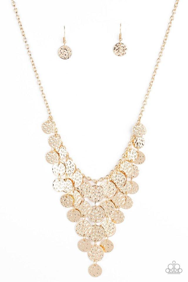 Spotlight Ready - Gold - Paparazzi Necklace Image