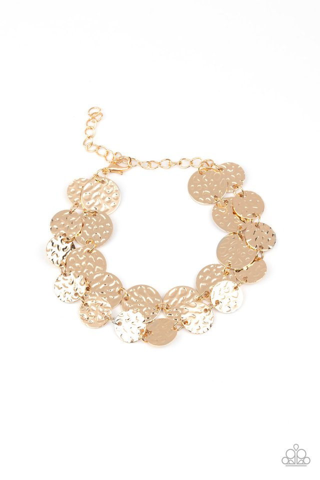 Rooted To The SPOTLIGHT - Gold - Paparazzi Bracelet Image