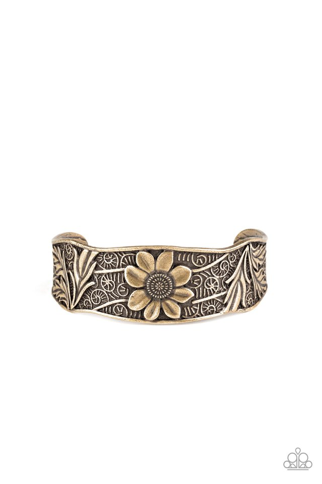 Daisy Paradise - Brass - Paparazzi Bracelet Image