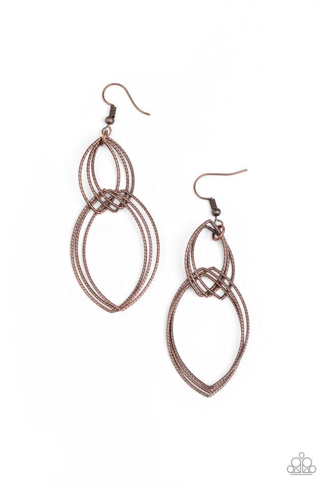 Endless Echo - Copper - Paparazzi Earring Image