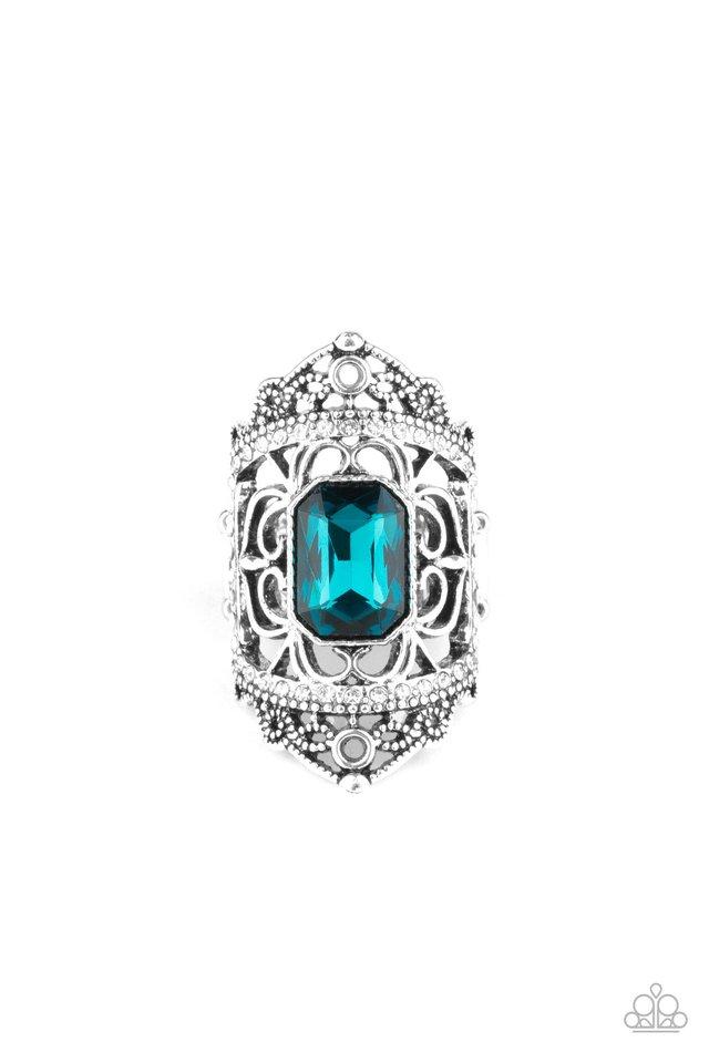 Undefinable Dazzle - Blue - Paparazzi Ring Image