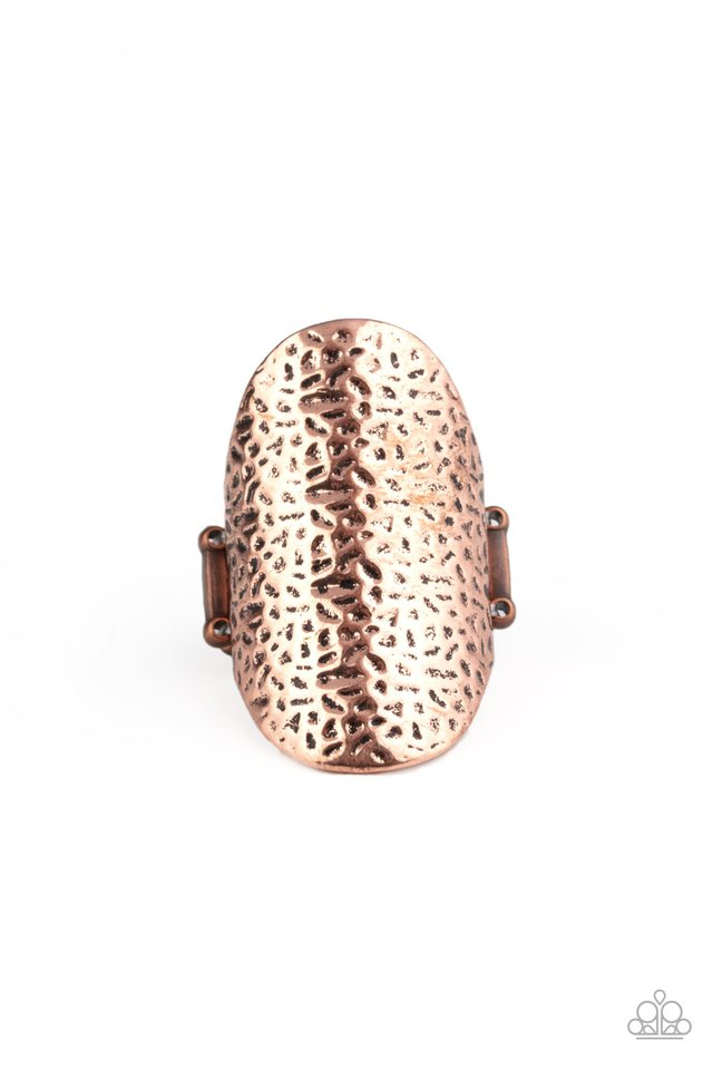 Urban Glyphs - Copper - Paparazzi Ring Image