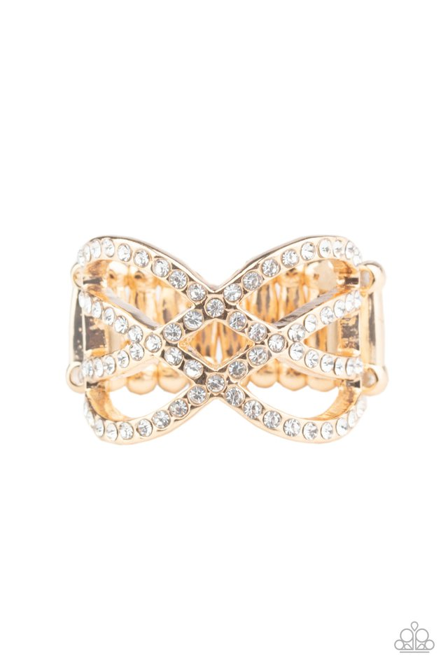 Cross Action Couture - Gold - Paparazzi Ring Image