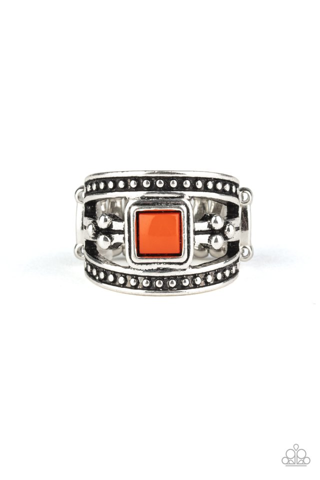 Vivid View - Orange - Paparazzi Ring Image