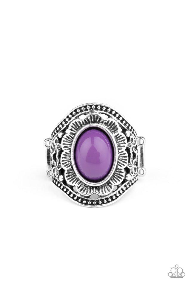 Garden Tranquility - Purple - Paparazzi Ring Image