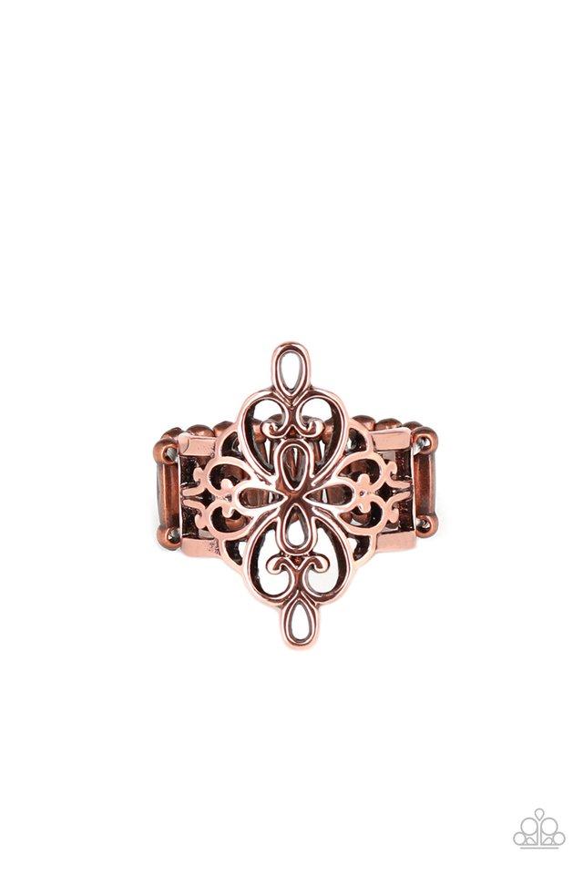 Walk The VINE - Copper - Paparazzi Ring Image