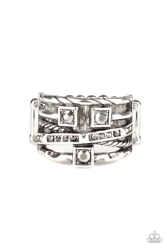 Couture Connoisseur - Silver - Paparazzi Ring Image