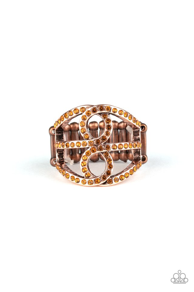 Fabulously Frosted - Copper - Paparazzi Ring Image