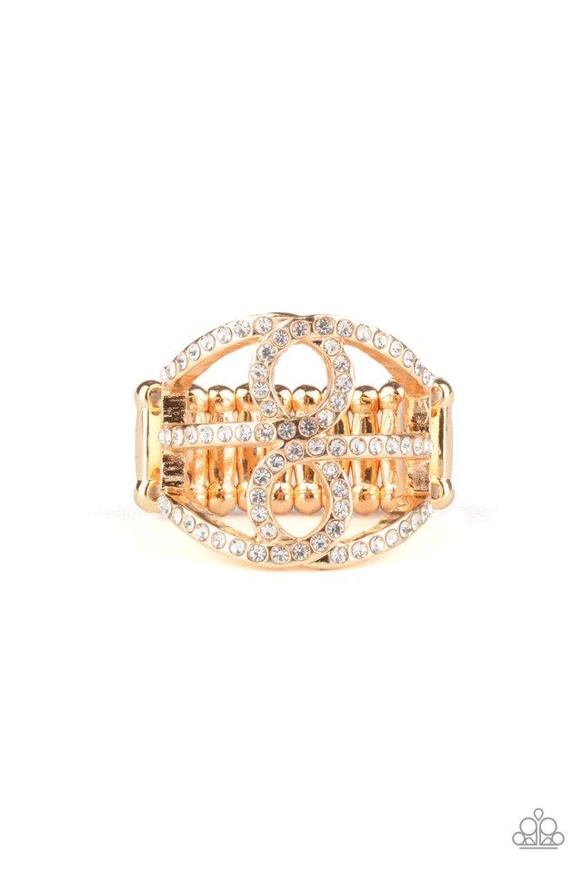 Fabulously Frosted - Gold - Paparazzi Ring Image