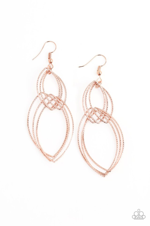 Endless Echo - Rose Gold - Paparazzi Earring Image