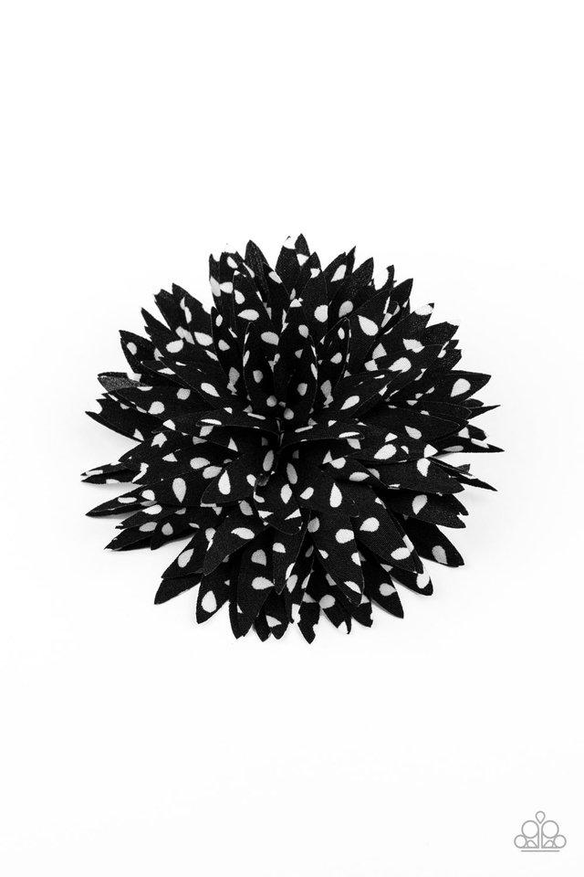Polka Panache - Black - Paparazzi Hair Accessories Image