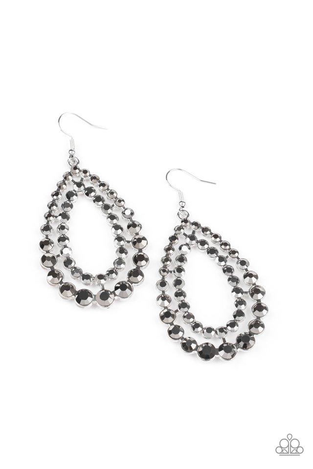 Glacial Glaze - Silver - Paparazzi Earring Image