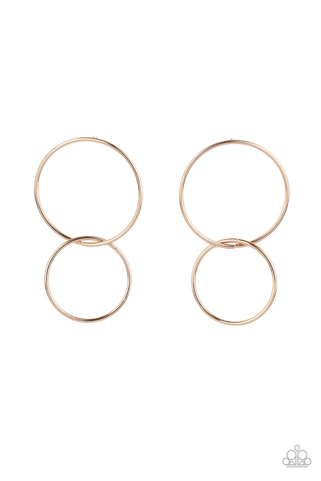 City Simplicity - Gold - Paparazzi Earring Image