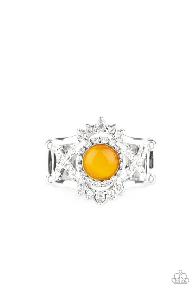 Decadently Dreamy - Yellow - Paparazzi Ring Image