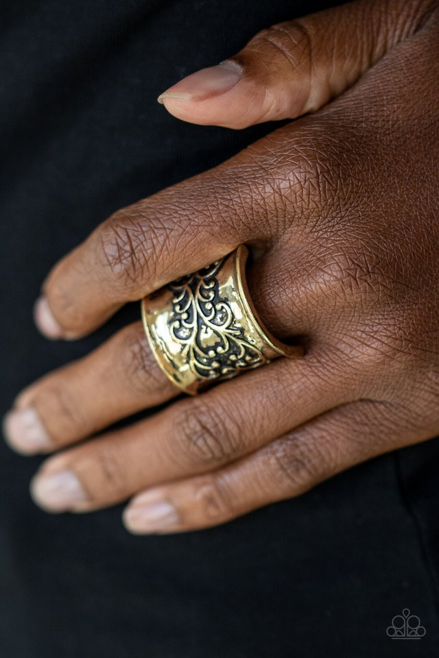 Me, Myself, and IVY - Brass - Paparazzi Ring Image