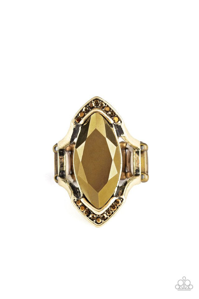 Leading Luster - Brass - Paparazzi Ring Image