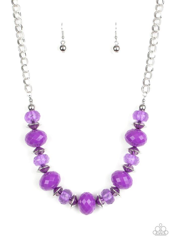 Hollywood Gossip - Purple - Paparazzi Necklace Image