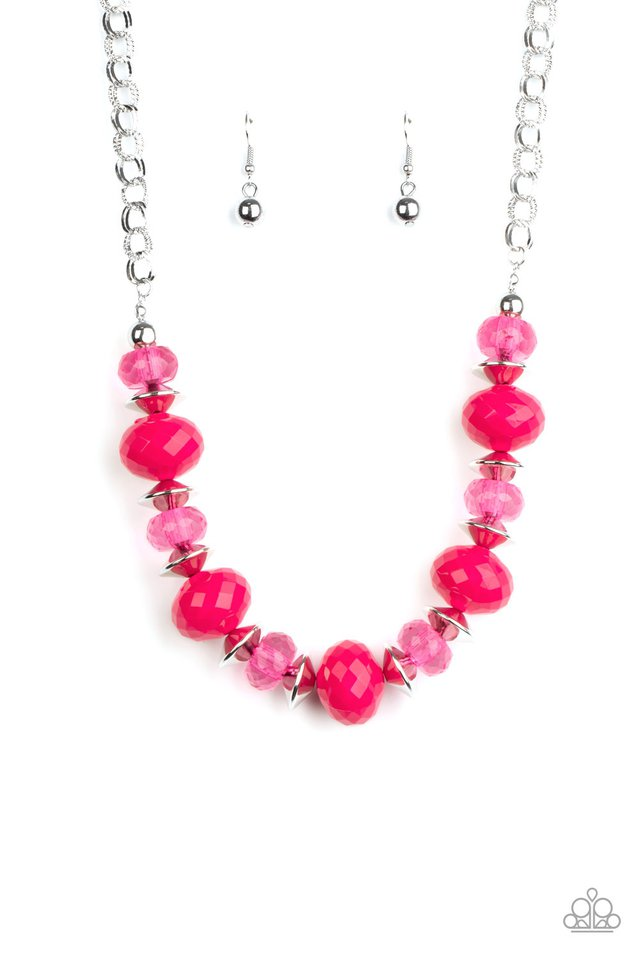Hollywood Gossip - Pink - Paparazzi Necklace Image