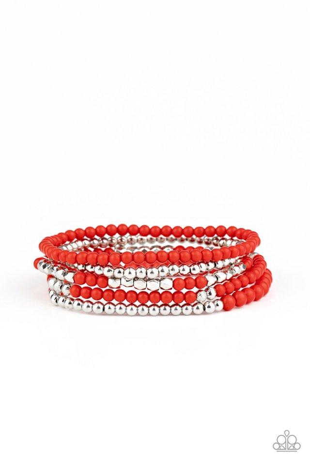 Stacked Showcase - Red - Paparazzi Bracelet Image