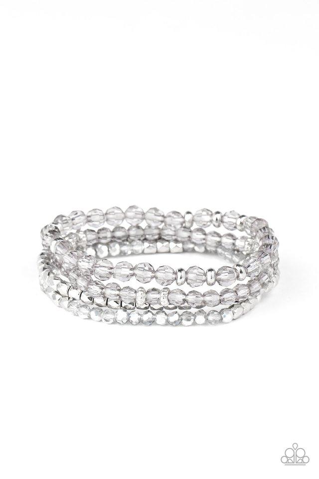 Crystal Crush - Silver - Paparazzi Bracelet Image