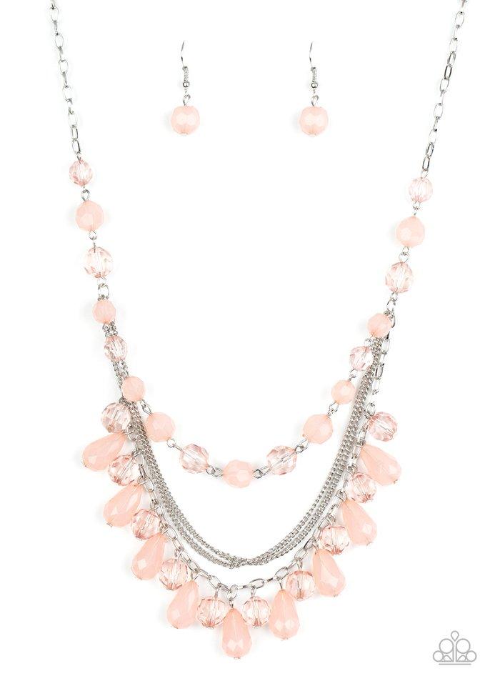 Awe-Inspiring Iridescence - Pink - Paparazzi Necklace Image