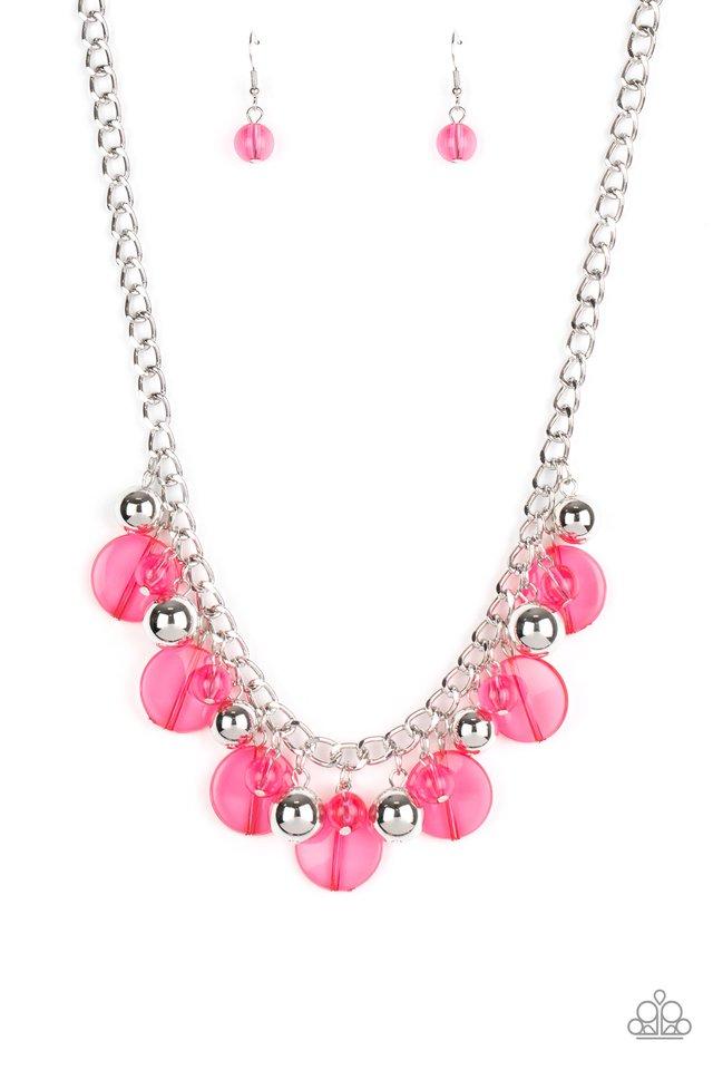 Gossip Glam - Pink - Paparazzi Necklace Image
