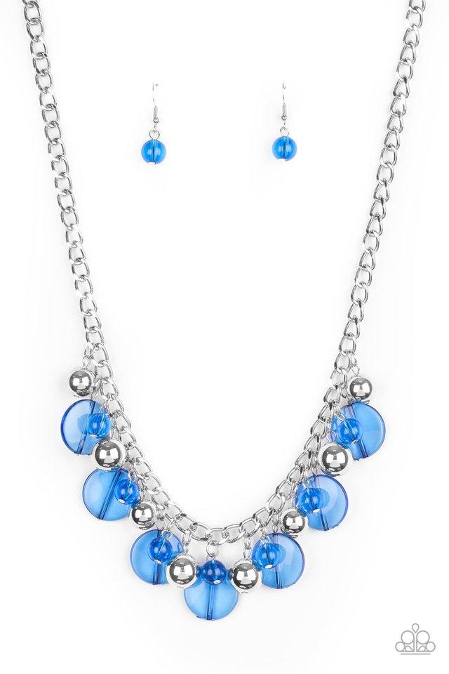 Gossip Glam - Blue - Paparazzi Necklace Image