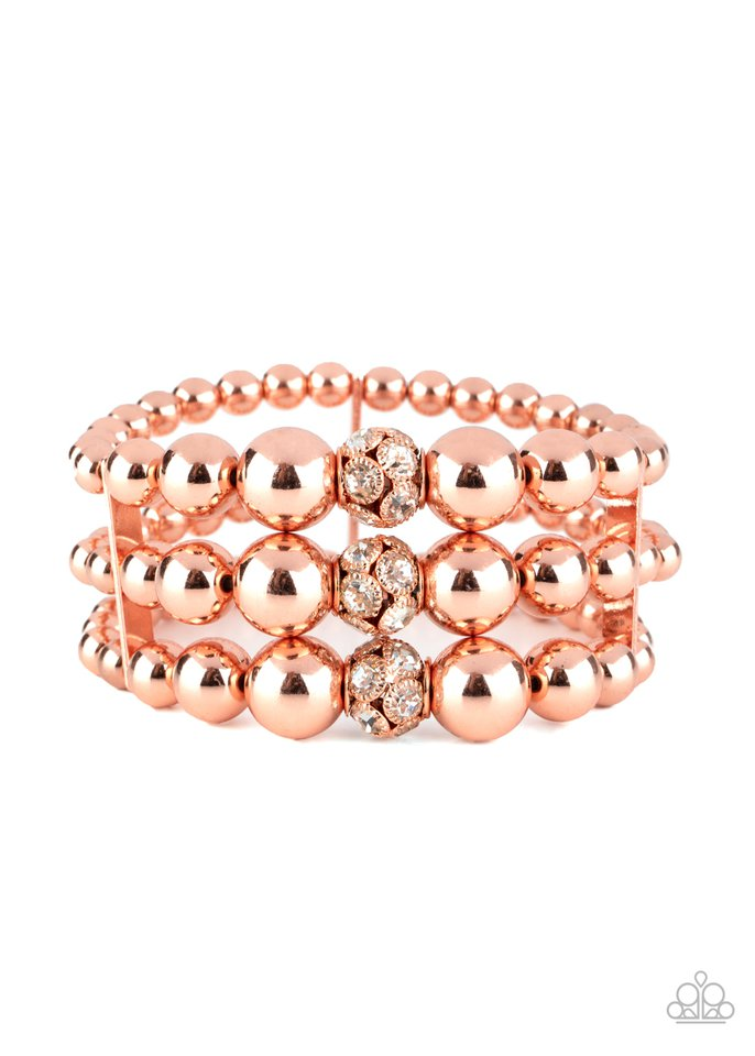 Icing On The Top - Copper - Paparazzi Bracelet Image