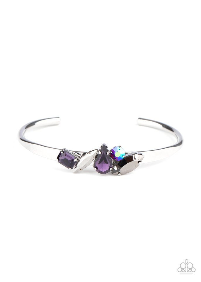 Gemstone Grotto - Purple - Paparazzi Bracelet Image
